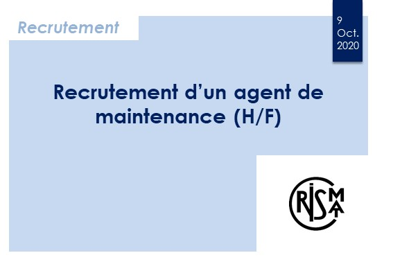 Recrutement d'un agent de maintenance (H/F)