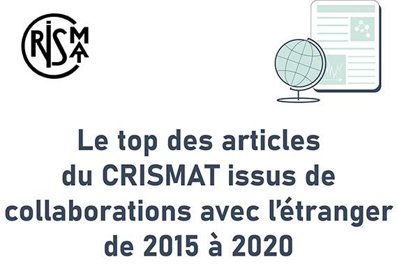 Le top des pays avec qui le CRISMAT a collaboré entre 2015 et 2020