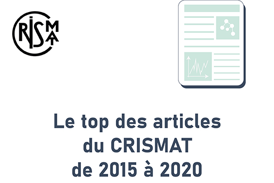 Le top des articles du CRISMAT de 2015 à 2020