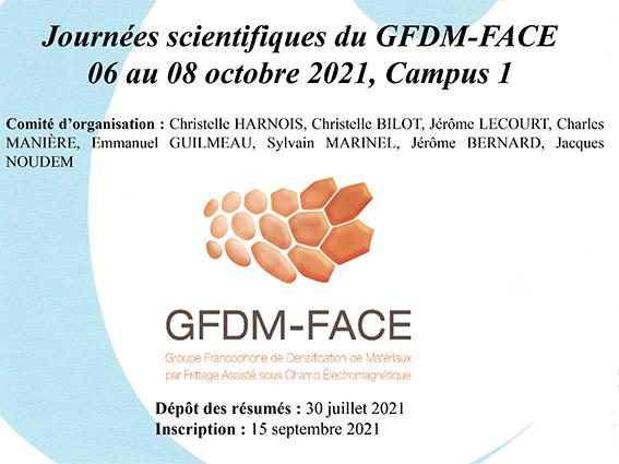Le CRISMAT organise les Journées scientifiques du GFDM-FACE du 6 au 8 octobre 2021